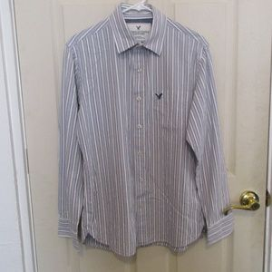 American Eagle Outfitters mens gray dress shirt M